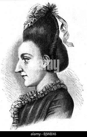 Goethe, Johann Wolfgang von, 28.8.1749 - 22.3.1832, German author / writer (poet), his sister Cornelia, profile, - Stock Photo