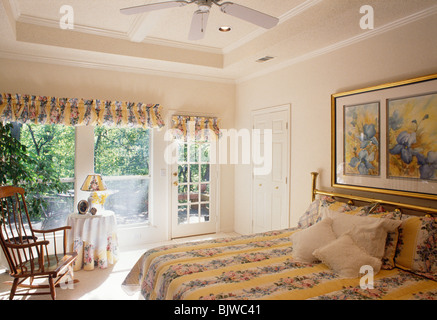 Residential Bedroom with Deck - Stock Photo