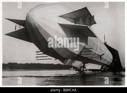 Zeppelin LZ3, purchased by the German Army and was operated as the Z1, 1906 (1933). Artist: Unknown - Stock Photo