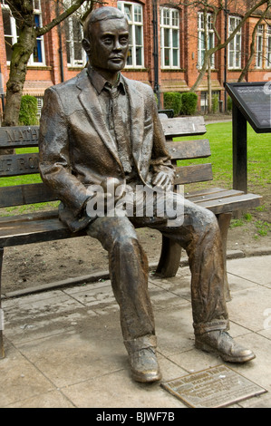 Statue of Alan Turing by Glyn Hughes.  Sackville St. Gardens, Manchester, England, UK - Stock Photo