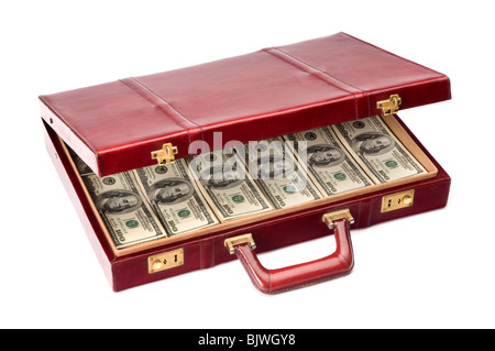 briefcase full of American money - Stock Photo