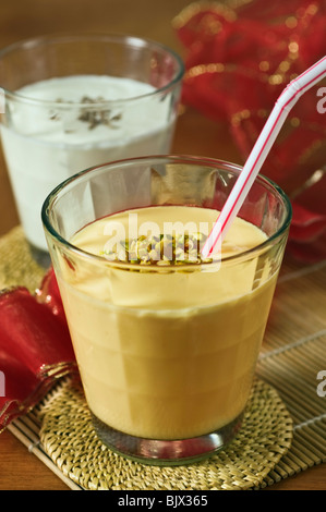 Lassi yoghurt drink - Stock Photo