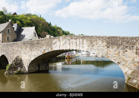 Bridge over the river Rance Dinan Brittany France - Stock Photo