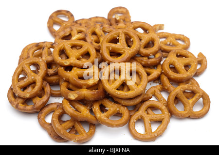 Pile of salted pretzels - Stock Photo