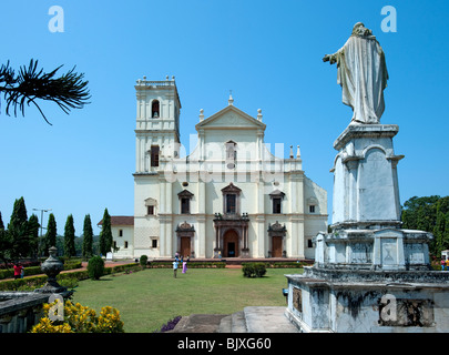 Se Cathedral, Old Goa, Goa, India - Stock Photo
