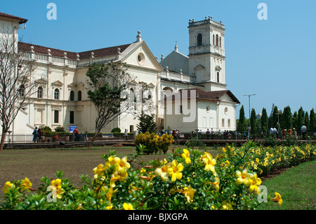 Church of St. Francis of Assisi and Se Cathedral, Old Goa, Goa, India - Stock Photo