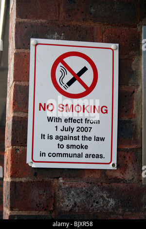 No smoking becomes law on 1st July 2007 - Stock Photo