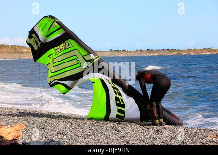 windsurfer dallas road victoria - Stock Photo