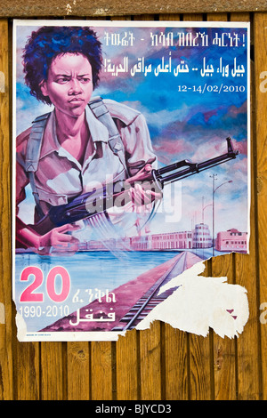 Campaign for the recruitment of women in the arms, Massawa, Eritrea - Stock Photo