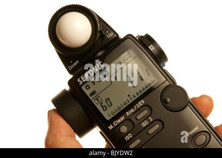 light meter reading - Stock Photo