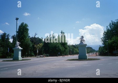 Mendoza, Argentina. The great roundabout in Avenida del Libertador, inside the city park (Parque General San Martín) - Stock Photo