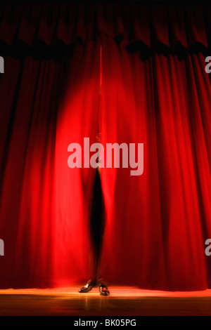 Lights on stage in theater - Stock Photo