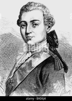 Paul I Petrovich, 1.10.1754 - 23.3.1801, Emperor of Russia 6.11.1796 - 23.3.1801, portrait, wood engraving 19th - Stock Photo