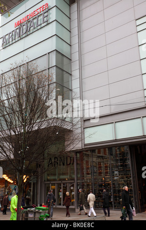 The Arndale shopping centre in the City of Manchester,one of the many entrances for the public. - Stock Photo