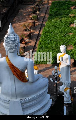 Le Wat Yai Chai Mongkhon Thailande - Stock Photo