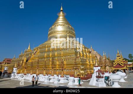 Shwezigon Paya. Nyaung U. Bagan. Myanmar - Stock Photo