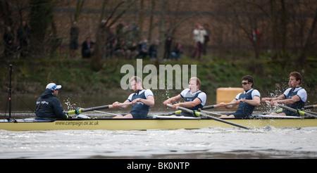 156th  University Boat Race  Oxford Cambridge - Stock Photo