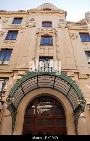 Municipal House, Obecní dům, Prague, Czech Republic - Stock Photo