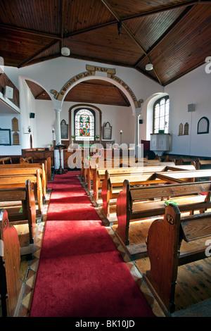 Ballintoy Church, County Antrim, N. Ireland. - Stock Photo