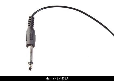 Stereo jack isolated on white backround - Stock Photo