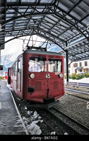 Chamonix Station, Montenvers train, France. - Stock Photo