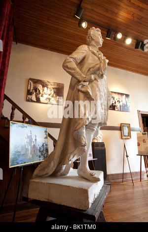 Statue of King Ludwig II by Elizabet Ney in the Elizabet Ney Museum in Austin, Texas. - Stock Photo