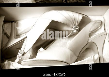 Bride's shoes - Stock Photo