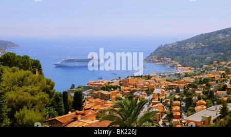 Luxurious cruising ship 'Pullmantur' in French Riviera near Monaco. - Stock Photo
