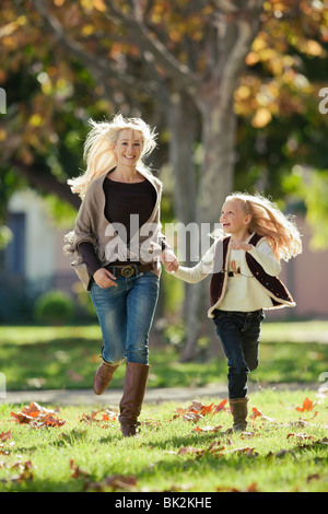 Mother and daughter enjoy time together - Stock Photo