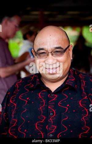 House owner from Bandar Seri Begawan, Kampong Ayer. - Stock Photo