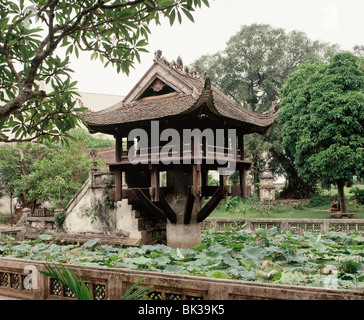 One Pillar Pagoda, Hanoi, Vietnam, Indochina, Southeast Asia, Asia - Stock Photo