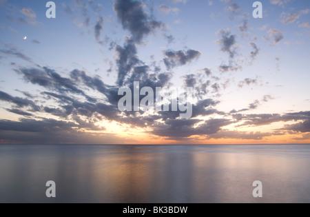 Sunset on Sanibel Island, Florida, United States of America, North America - Stock Photo