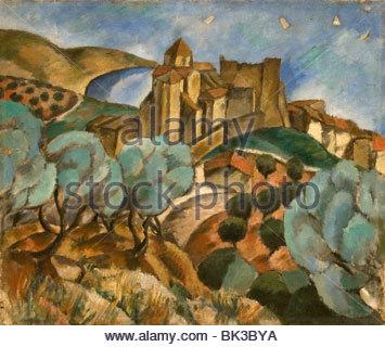 Jose de Togores Spain Spanish Painter Landscape 1917 - Stock Photo