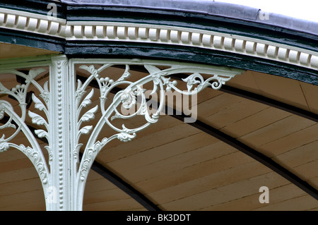 Detail of the bandstand in Royal Victoria Park, Bath, Somerset, England, UK - Stock Photo