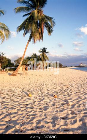 Sandy Beach at the Ancon Hotel, Trinidad, Cuba - Stock Photo