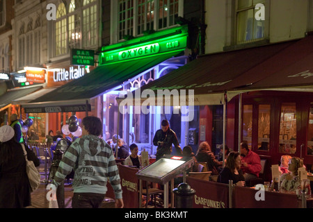 Leicester Square at night, London, UK - Stock Photo