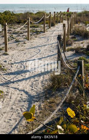 Pathway to Bowman's Beach - Sanibel Island, Florida USA - Stock Photo