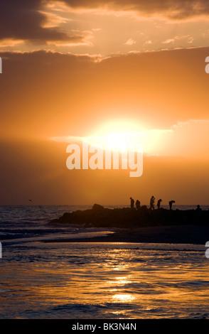 Sunset on Sanibel Island, Florida USA - Stock Photo