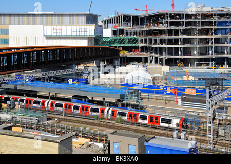 Stratford railway station Westfield center construction site - Stock Photo