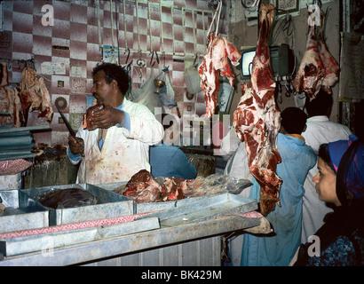 Butcher shop, Egypt - Stock Photo