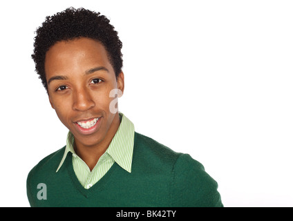 A model-released portrait of a hip, stylish, young african american man. - Stock Photo