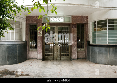 City Apartment Building Entrance entrance to art deco apartment building in london uk stock photo