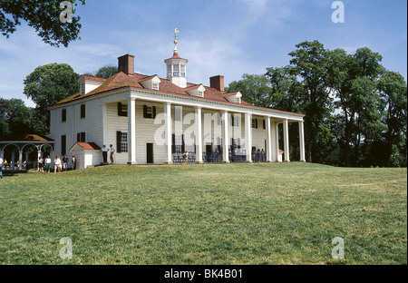 Mount Vernon plantation home of George Washington in Fairfax County, Virginia - Stock Photo