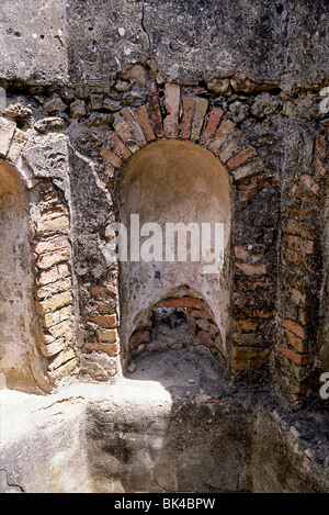 Volubilis - a partly excavated Berber and Roman city in Morocco situated near the city of Meknes, Morocco - Stock Photo