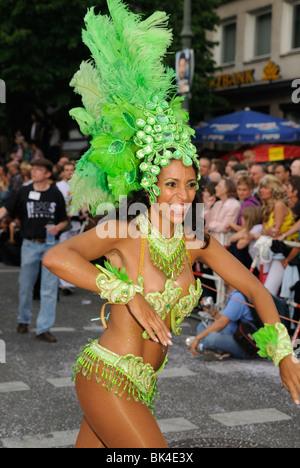Karneval der Kulturen, Carnival of Cultures, annual famous street parade on Whitsun, Kreuzberg district, Berlin, - Stock Photo