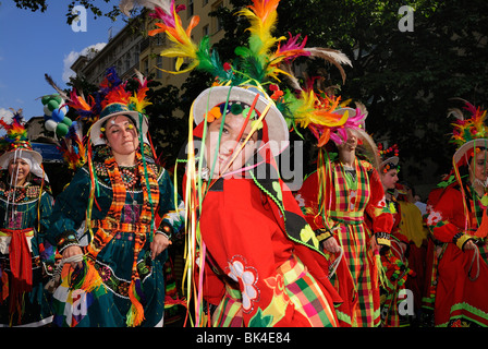 Karneval der Kulturen, Carnival of Cultures, Berlin, Kreuzberg district, Germany, Europe. - Stock Photo