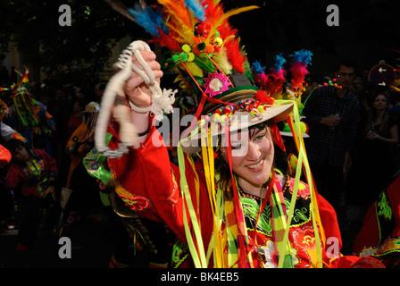 Karneval der Kulturen, Carnival of Cultures, famous annual street parade on Whitsun, Kreuzberg district, Berlin, - Stock Photo