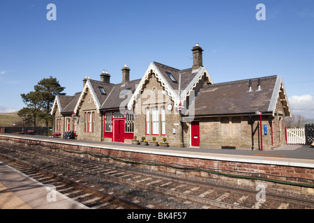 Kirkby Stephen Upper Eden Valley Cumbria England UK Britain. Old train station on Settle to Carlisle scenic railway - Stock Photo