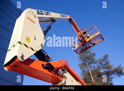 hydraladder boom and working platform - Stock Photo