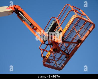 Boom lift working platform - Stock Photo